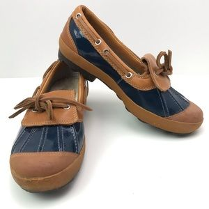 UGG Ashdale Duck Shoes Blue and Tan